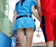 Real voyeur upskirt galleries with unaware girls hunted down